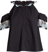 Peter Pilotto Lace-trim cut-out shoulder top