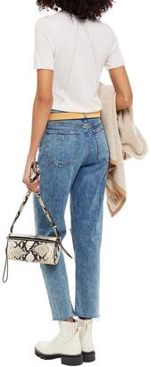 Rag & Bone Nina Distressed High-rise Tapered Jeans