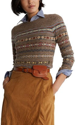 Polo Ralph Lauren Fair Isle Wool & Cashmere Sweater