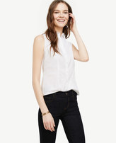 Ann Taylor Petite Sleeveless Perfect Shirt
