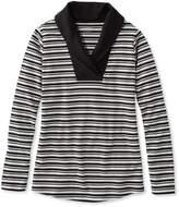 L.L. Bean L.L.Bean Shawl-Collar Pullover, Stripe