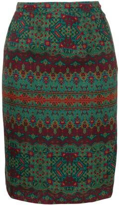 Saint Laurent Pre-Owned patterned skirt