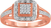 Rosegold FINE JEWELRY 1/10 CT T.W. Diamond Rose-Gold Plated Ring