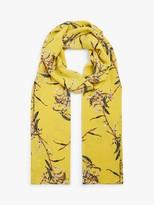Masai Along Floral Print Scarf, Cream/Gold