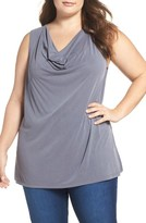 Bobeau Plus Size Women's Modal Blend Drape Neck Top