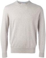 Brunello Cucinelli ribbed trim sweatshirt - men - Cotton - 54