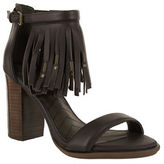 Mia Stacked Heel Leather Sandals