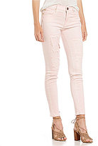 True Religion Halle Destructed Mid Rise Super Skinny Jeans