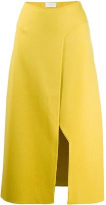 Esteban Cortazar Knitted Side Slit Skirt