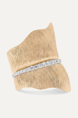 OLE LYNGGAARD COPENHAGEN Leaves Large 18-karat Gold Diamond Ring