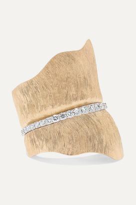 OLE LYNGGAARD COPENHAGEN Leaves Large 18-karat Gold Diamond Ring