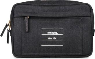 Thom Browne Logo Print Wool Belt Bag