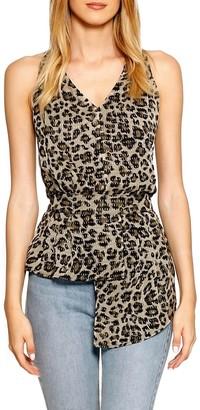 Walter Baker Blondie Leopard Blouson Top