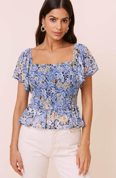 ASTR the Label The January Top In Navy Floral - S