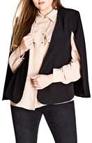 City Chic Plus Size Women's Jacket Sharp Cape