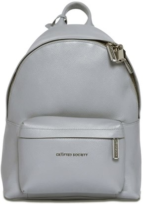 Crafted Society Skye Backpack Small - Light Grey Saffiano Leather