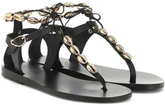Ancient Greek Sandals Chrysso Shells leather sandals