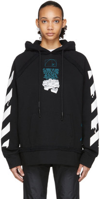 Off-White Off White Black Dripping Arrows Incompiuto Hoodie