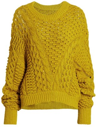 3.1 Phillip Lim Cable-Knit Crewneck Sweate