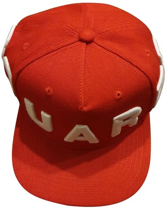 DSQUARED2 Red Cotton Hats & pull on hats