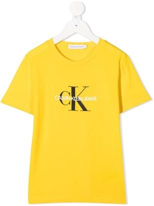 Calvin Klein Kids logo print T-shirt