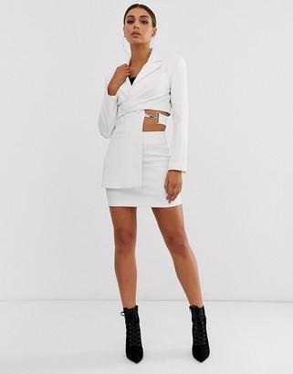 Asos Design DESIGN suit skirt in white