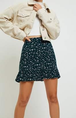 La Hearts Ruffle Mini Skirt