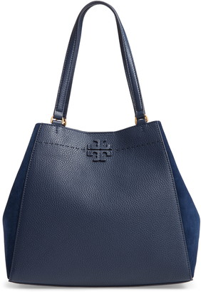 Tory Burch McGraw Leather & Suede Satchel