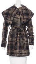 Rachel Zoe Belted Tweed Coat