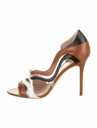 Aperlaï Aurore Leather Sandals Brown