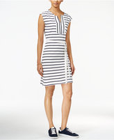 Tommy Hilfiger Striped Belted Dress, Only at Macy's