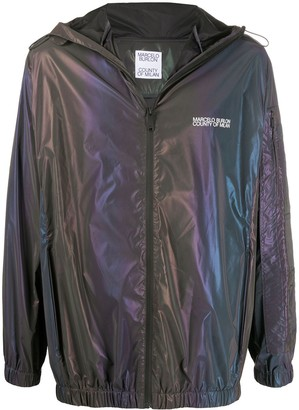 Marcelo Burlon County of Milan Iridescent Lightweight Hooded Jacket