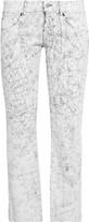 MM6 MAISON MARGIELA Low-rise cracked-leather straight-leg pants