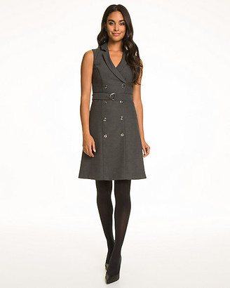 Le Château Viscose Blend V-Neck Shirtdress