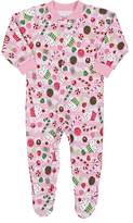 Sara's Prints SUGARPLUM-PRINT COTTON-BLEND FOOTED PAJAMAS