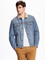 Old Navy Sherpa-Lined Denim Jacket for Men