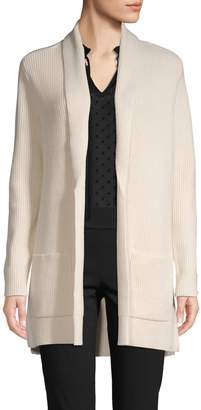 Isaac Mizrahi Imnyc Ribbed Open-Front Cardigan