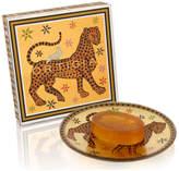 Ortigia Ambra Nera Glass Plate & Soap Set