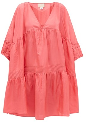 Anaak - Airi Pintucked Silk-habutai Dress - Pink