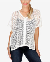 Lucky Brand Cotton Lace Poncho