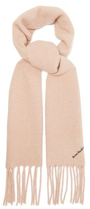 Acne Studios Villy Boiled Wool-blend Scarf - Womens - Camel