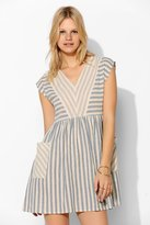 BDG Stripe-Mix Woven Babydoll Dress