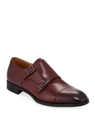 Giorgio Armani Leather Double-Monk Shoe