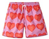 Stella Cove Toddler Boy's Heart Print Swim Trunks