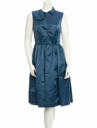 Marc by Marc Jacobs Pleated A-Line Dress blue