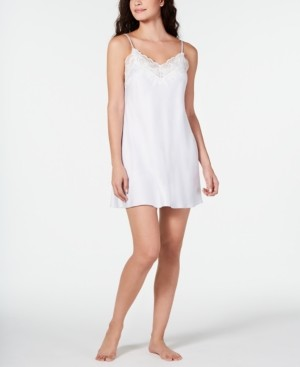 Linea Donatella Caterina Lace-Trim Printed Chemise Nightgown