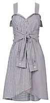 Derek Lam 10 Crosby Striped Tie-Front Mini Dress