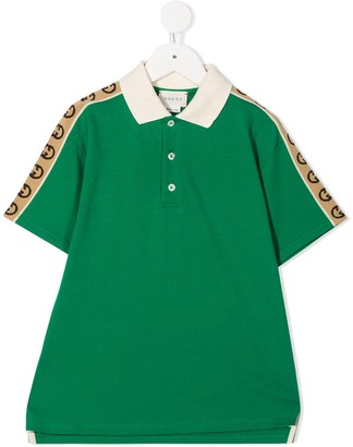 Gucci Kids Logo-Tape Short-Sleeve Polo Shirt