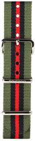 Briston 20mm Striped Nylon Watch Strap, Green/Black/Red