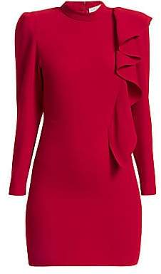 IRO Women's Deteo Long-Sleeve Ruffle Mini Dress